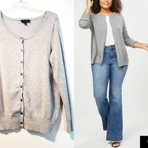 18/20 Lane Bryant Heather Gray Cardigan Sweater